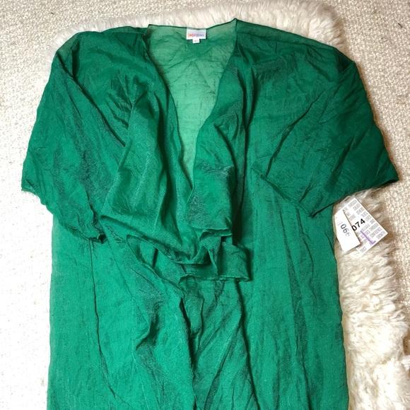 LuLaRoe Tops - LulaRoe Shirley Green Iridescent Kimono